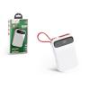 Hoco Univerzális hordozható, asztali akkumulátor töltő - HOCO J40 Type-C Power Bank - USB+microUSB+Type-C - 10.000 mAh - white