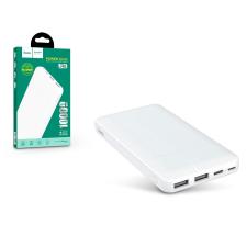 Hoco Univerzális hordozható, asztali akkumulátor töltő - HOCO J48 Nimbe Power Bank - 2xUSB+microUSB+Type-C - 10.000 mAh - white power bank