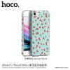 Hoco védőtok Apple iPhone 7 / 8 - türkizkék virágokkal