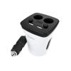 Hoco - Z11 autós pohártartóba tehető kijelzős szivargyújtó elosztó és töltő 2xUSB (3,1A max)