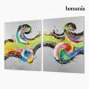 Homania Készlet 2 Olajfestménnyel (120 x 3 x 150 cm) by Homania