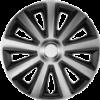 """HOMASITA 08104097 Versaco Aviator dísztárcsa szett, 15""""""""-os méretben, karbon-fekete, 4 db"""