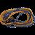 HOMASITA Gumipók 2x150cm, 8 mm átmérő, fém kampókkal