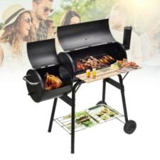 Hoppline 2in1 faszenes BBQ grill és smoker grillsütő