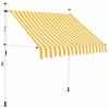 Hoppline Feltekerhető napellenző, sárga csíkos, 250x120 cm