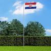 Horvát zászló alumíniumrúddal 6,2 m