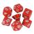 Hot Games Dobókocka szett - lávapiros (7 darabos) - /EV/