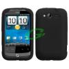 HTC A510e/G13 Wildfire S fekete szilikon tok