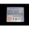 HTC BA S400 kompatibilis utángyártott akkumulátor (1300mAh, Li-ion, Touch HD2)*
