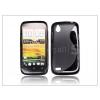 HTC Desire X szilikon hátlap - S-Line - fekete