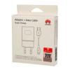 Huawei AP32 hálozati gyorstöltő adapter + microUSB kábel, 9V/2A, fehér