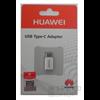 Huawei gyári AP52 microUSB - Type-C adapter, fehér
