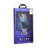 Huawei P8 Lite, Kijelzővédő fólia, ütésálló fólia (az íves részre is!), Tempered Glass (edzett üveg), Roar, 5D, fehér