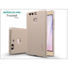 Huawei P9 hátlap képernyővédő fóliával - Nillkin Frosted Shield - gold tok és táska