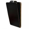Huawei P9 Lite Mini / Y6 (2017) Pro, Forcell lenyitható bőrtok, Slim Flexi, felfelé nyíló - kinyitható, fekete
