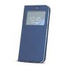 Huawei Smart Look Huawei Mate 10 Lite oldalra nyíló bőrhatású ablakos könyv tok szilikon belsővel s?