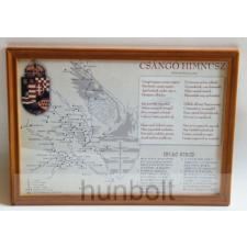 Hunbolt Asztalra tehető és falra akasztható üveglapos fakeretes csángó himnusz 21X30 cm grafika, keretezett kép