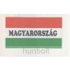Hunbolt Nemzeti színű Magyarország felirattal matrica II. 10X5,5 cm