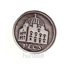 Hunbolt Ón Pécs címkés talpas pálinkás pohár (tulipános, grappás pohár) 85ml ón Pécs címer 6db pálinkás pohár