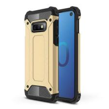 Hurtel Hibrid Armor telefontok hátlap tok Ütésálló Robusztus Cover Samsung Galaxy S10e arany tok és táska