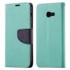 Hurtel Samsung Galaxy A3 (2017) Fancy oldalra nyíló hátlap, tok, zöld