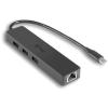 I-TEC USB-C Slim 3-portový HUB s GLAN