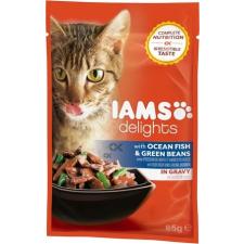 IAMS Cat Delights – Tengeri hal és zöldbab szószban (24 x 85 g) 2.04kg macskaeledel
