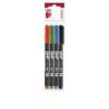 ICO Alkoholos marker készlet, OHP, 0,5 mm, F, ICO, 4 különböző szín [4 db]