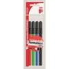 ICO Alkoholos marker készlet, OHP, 2-3 mm, B, ICO, 4 különböző szín [4 db]