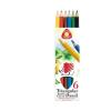 """ICO Színes ceruza készlet, háromszögletű, vastag, ICO """"Süni"""", 6 különböző szín"""