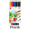 """ICO Színes ceruza készlet, hatszögletű, ICO \""""Süni\"""", 12 különböző szín [12 db]"""