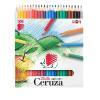"""ICO Színes ceruza készlet, hatszögletű,  """"Süni"""", 24 különböző szín"""