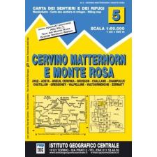 IGC Cervino Matterhorn E Monte Rosa turista térkép IGC 1:50 000 térkép