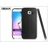 IMAK Samsung SM-G920 Galaxy S6 hátlap képernyővédő fóliával - IMAK Vega Leather - fekete