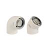 Immergas 80/125 mm-es, 45°-os koncentrikus ív kondenzációs rendszerhez