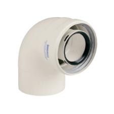 Immergas 80/125 mm-es, 90°-os koncentrikus ív kondenzációs rendszerhez hűtés, fűtés szerelvény