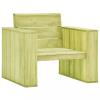 Impregnált fenyőfa kerti szék 89 x 76 x 76 cm