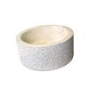 INDERA Mosdókagyló természetes kőből - MIRUM 509 Ø45 cm CREAM