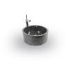 INDERA Mosdókagyló természetes kőből MIRUS - 509 Ø40 Black