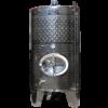 Inox 1100 l-es bortartály, úszófedeles, paraffinos, 3 csappal (Zottel) (10464)
