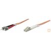 Intellinet multimódusú üvegszálas kábel 50/125 (OM2), LC-ST duplex, 2 m.