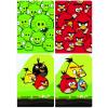 Interdruk Iskolai füzet -vegyes mintákkal-A5 32 lap Angry Birds kockás <10db/cs