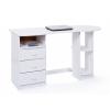 Interlink Touchround fenyő íróasztal, fehér