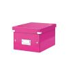 Irattároló doboz, A5, lakkfényű, LEITZ Click&Store, rózsaszín