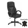 Irodai szék, bőr/textilbőr fekete, LUMIR
