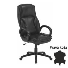 7af560b386 Irodai szék, bőr/textilbőr fekete, LUMIR - Forgószék: árak ...