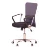 Irodai szék, fekete ülés, háttámla ?szürke, AEX