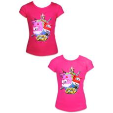 ismeretlen Super Wings: rövid ujjú póló - 92 méret, lányos, két színben