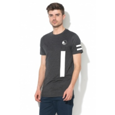 Jack Jones Jack&Jones, Booster kerek nyakú slim fit póló, Antracitszürke, S (12138779-DARK-GREY-MELANGE-S)