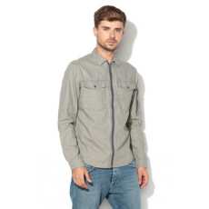 Jack Jones Jack&Jones, Christian Regular Fit vékony farmerkabát, Melange szürke, S (12138902-GREY-DENIM-S)